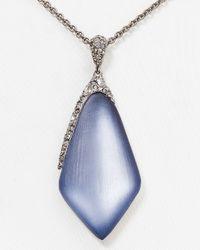 "Alexis Bittar - Blue Lucite Encrusted Pendant Necklace, 16"" - Lyst"