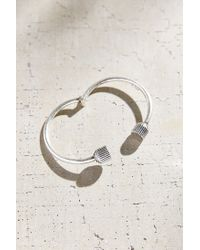 Urban Outfitters | Metallic Retro Edge Lock Bangle Bracelet | Lyst