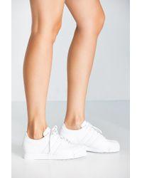 Adidas Originals | White Originials Samoa Perforated Mono Sneaker | Lyst