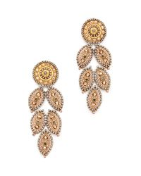 Miguel Ases | Metallic Misty Topaz Dangle Earrings - Gold | Lyst