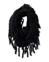 Aéropostale | Black Open-knit Fringed Infinity Scarf | Lyst