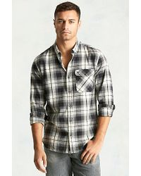 True Religion | Gray Single Pocket Woven Mens Shirt for Men | Lyst