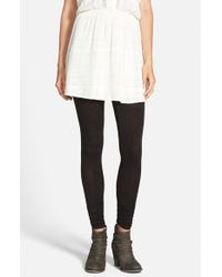 Free People | Black 'sensual' Cotton Blend Leggings | Lyst
