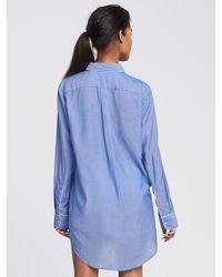Banana Republic Blue Piped Lounge Shirt