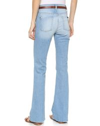 7 For All Mankind - Blue High Waisted Boot Cut Jeans - Light Sky - Lyst