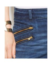 INC International Concepts - Zippered Skinny Jeans Medium Blue Wash - Lyst