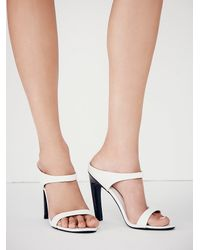 Free People - White Finders Keepers Womens All We Know Mule - Lyst