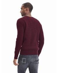 Banana Republic   Purple Textured Filpucci Italian Wool Crew Pullover for Men   Lyst