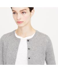 J.Crew Gray Collection Cashmere Sparkle Cardigan Sweater