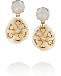Tory Burch | Metallic Courtlyn Goldplated Moonstone and Resin Earrings | Lyst
