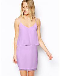ASOS Purple Cami Dress With Overlay
