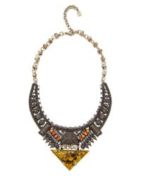 DANNIJO - Multicolor Zosia Necklace - Brass/crystal/topaz/olivine - Lyst
