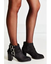 Jeffrey Campbell Black Rayburn Buckle Boot