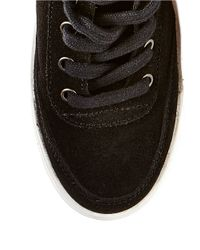 Steve Madden | Black Teepeaa Lace-up Fringe Accented Sneakers | Lyst