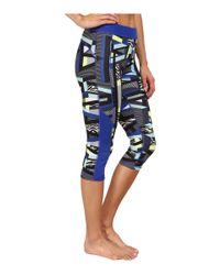 Adidas - Blue Techfit™ Capri Tights - Amazing Print - Lyst