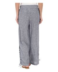 Miraclebody | Blue Lil Cropped Wide Leg Pull-on Pants | Lyst