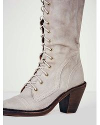 Free People - Gray Jesse Lace Up Otk Boot - Lyst