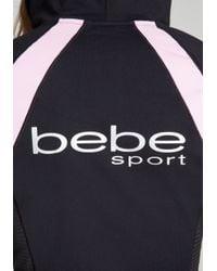 Bebe Black Logo Colorblock Hoodie