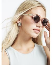BaubleBar | White Crystal Magnolia Studs | Lyst
