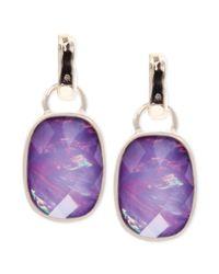 Jones New York - Metallic Goldtone Purple Stone Drop Earrings - Lyst