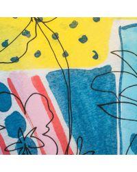 Paul Smith Multicolor Women'S 'Patchwork Paintmarks' Print Cotton-Linen T-Shirt