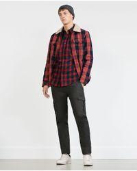 Zara | Blue Check Flannel Shirt for Men | Lyst