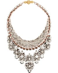 Shourouk | Pink River Comet Swarovski Crystal Necklace | Lyst