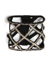 Mignonne Gavigan | Black Fishnet Bracelet | Lyst