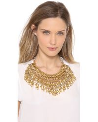 Aurelie Bidermann Metallic Heart Beaded Bib Necklace