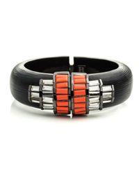 Alexis Bittar Black Cubist Baguette Barrel Hinged Bracelet You Might Also Like
