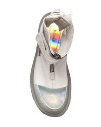 D.GNAK White Leather Sandals