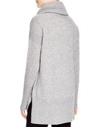 Diane von Furstenberg Gray Ahiga Cashmere Turtleneck Sweater