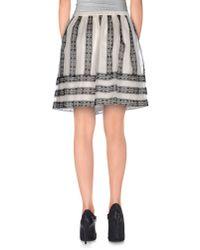 Manoush - Natural Knee Length Skirt - Lyst