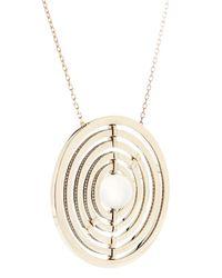 Noor Fares | Metallic Diamond, Moonstone & Gold Armillae Necklace | Lyst