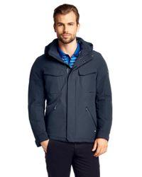 BOSS Green Blue Water-Repellent Outdoor Jacket 'Japhet' for men