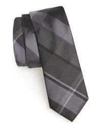 Calibrate Black 'rhodes Plaid' Silk Blend Tie for men