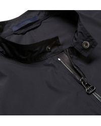 Lanvin - Black Leather And Poplin Bomber Jacket for Men - Lyst