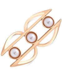 Guess | Metallic Gold-tone Faux Pearl Ring | Lyst
