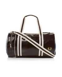 Fred Perry - Brown Classic Barrel Bag for Men - Lyst