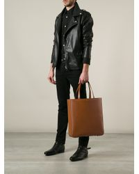 Saint Laurent Brown Northsouth Tote for men