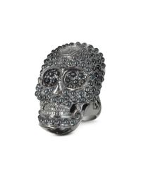 Philipp Plein | Skull Light Black Womens Ring | Lyst