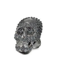 Philipp Plein - Skull Light Black Womens Ring - Lyst