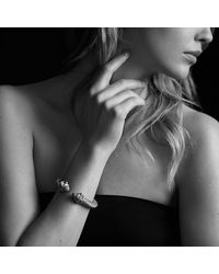 David Yurman - Metallic Renaissance Bracelet With Diamonds, 10mm - Lyst