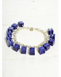 Lily Kamper | Constellation Charm Bracelet In Silver & Blue | Lyst
