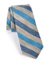 W.r.k. | Blue Stripe Cotton & Linen Tie for Men | Lyst
