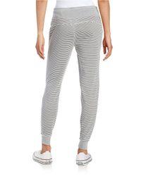 Calvin Klein | Gray Striped Knit Jogger Pants | Lyst