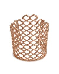 Alexis Bittar | Pink Barbed Linked Cuff - Gold | Lyst