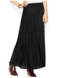 Maison Jules - Black Pleated Maxi Skirt - Lyst