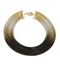 ABS By Allen Schwartz | Black Goldtone Ombre Chain Necklace | Lyst