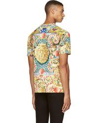 Versus Yellow Jungle Multi_print T_shirt for men